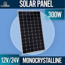 300W <b>SOLAR PANEL</b> MONOCRYSTALLINE <b>12V 24V</b> MONO ...