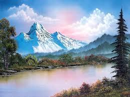 bob ross landscape painting oil art paintings