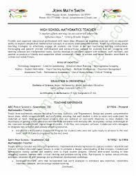 Teacher Resume Examples Fascinating Educator Resume Examples Middle School Math Teacher Resume Best