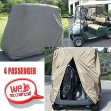 golf cart seat covers 4 passenger golf cart taupe cover fit ez go club car