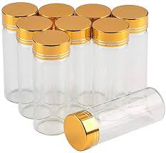 12units Empty Mini Jars Glass Bottle with Aluminium ... - Amazon.com