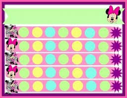 Printable Potty Training Chart Minnie Mouse Minnie Mouse Potty Chart Template Potty Training Girls