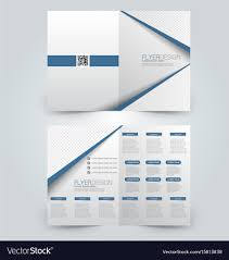 Two Page Brochure Template Two Page Fold Brochure Template Design Royalty Free Vector
