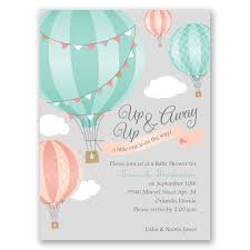 Baby Shower Invitation Up Up Away Petite Baby Shower Invitation Invitations By Dawn 1