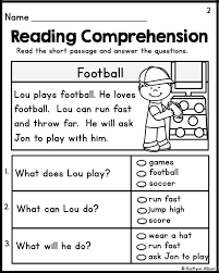 Kindergarten Reading Comprehension Worksheets for learning ⋆ Free ...