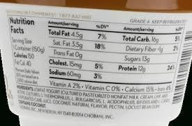 chobani yogurt food label world of label inside chobani yogurt nutrition label