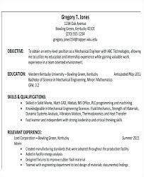 Mechanical Engineering Resume Format Download In Ms Word Sample On