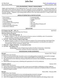Civil Engineer Resume Sample Template Magnificent Sample Resume Of A Civil Engineer