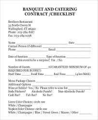 Catering Contract Samples Sample Catering Contract 15 Examples In Pdf Word