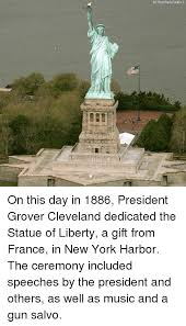 Image result for officially dedicated by President Grover Cleveland.