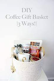 We all have a friend or family member who have a passion with coffee. Diy Coffee Gift Basket 3 Ways Belle Vie Coffee Gift Baskets Coffee Gifts Diy Coffee Gift Basket