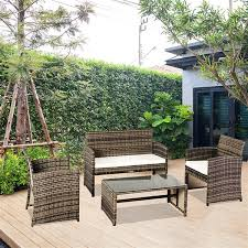 outdoor leisure rattan furniture four