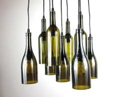 wine bottle light fixture chandelier