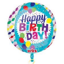 Happy Birthday Streamer Burst Orbz 15in