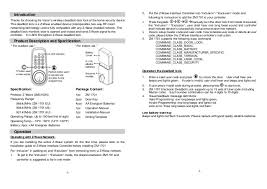 Door lock without handle vision operational manual