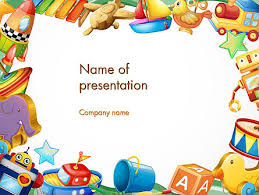 Toys Frame Powerpoint Template Backgrounds 14293