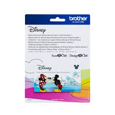 Scan N Cut Designs Brother Scanncut Disney Card Mickey Minnie Paper Craft Collection X 26 Designs
