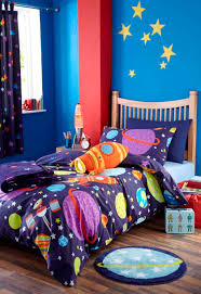 Kids Bedroom Bedding Details About Boys Space Rocket Outer Space Bedding Or Curtains