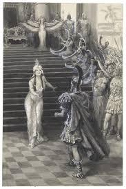 antony and cleopatra shakespeare library drawing by a m faulkner of cleopatra greeting antony 1906