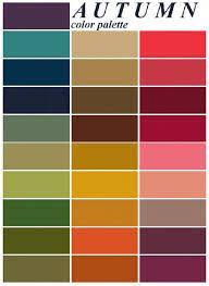 Color Me Beautiful Spring Color Chart Color Me Beautiful Palate Color Palette Fall Color