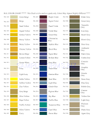 Ral Colour Chart Download Free Preview Pdf Ral Colour Chart 2 3