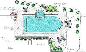 Backyard With Pool Design Ideas Adorable Swimming Pool Plans Free Design Custom Ideas House Above Ground Deck