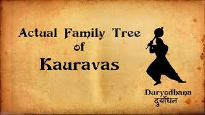 Mahabharata Family Tree Chart Pdf In Hindi Kauravas Actual Family Tree Or Bloodline Mahabharata Facts