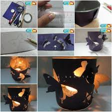 More DIY Ideas <<. How To Make homemade romantic Butterfly Candle Holders  ...