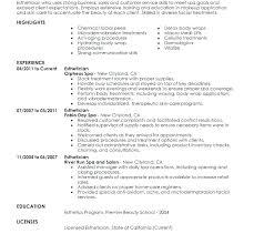 Esthetician Resume Classy Esthetician Resume Objective Simple Resume Format