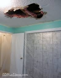 bathroom ceiling repair. How To Repair A Hole In Your Ceiling Drywall Bathroom R