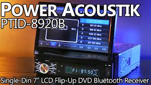 power acoustik ptid 8920b 7 motorized touch screen lcd dvd power acoustik ptid 8920b 7 motorized touch screen lcd dvd receiver detachable face bluetooth