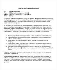 Employee Memo Template 10 Free Word Pdf Document