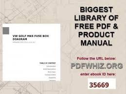 vw golf mk6 fuse box diagram youtube golf mk7 cigarette lighter fuse at Vw Golf Mk7 Fuse Box Diagram