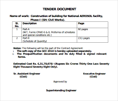 Tender Document Template Extraordinary 44 Sample Tender Documents PDF Sample Templates