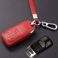 2017 leather key fob cover case with key chain for 2017 audi q7 a4 a5 tt accessories key holder protective glove canada 2019 from coober