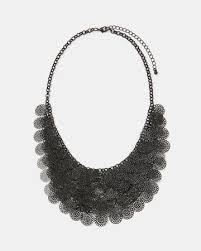statement fl filigree bead necklace