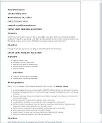 Resume For Cna Position Simple Example Of Cna Resume Nursing Cna Resume Examples For Nursing Home