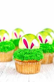 Printable Cupcakes Printable Bunny Ear Cupcake Toppers On Cupcakes