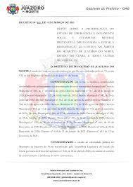DECRETO Nº 621, DE 11 DE MARÇO DE 2021 DISPÕE SOBRE A PRORROGAÇÃO DO ESTADO  DE EMERGÊNCIA E ISOLAMENTO SOCIAL E ESTABELECE