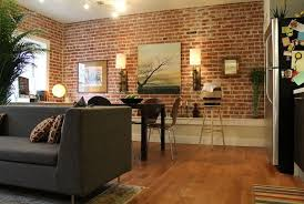 view in gallery exposed brick walls in the living room