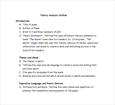 poetry analysis essay outline mla format literary analysis essay example