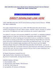 w wiring diagram pdf w image wiring diagram 1992 1999 mercedes benz w140 series workshop repair service manual on w140 wiring diagram pdf