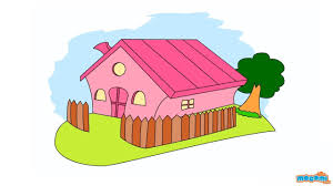 how to draw a house step by step drawing for kids educational videos by moi