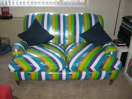 duct tape furniture. Re-cover Old Upholstery With Duct Tape Furniture A