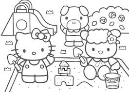 Hello Kitty Colouring Coloring Pages To Print