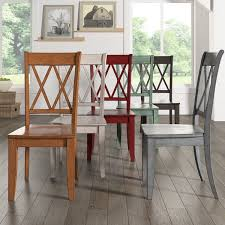 room chairs eleanor double x back wood dining chair set of 2 by inspire q clic