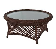 round outdoor wicker coffee table outdoor coffee table round