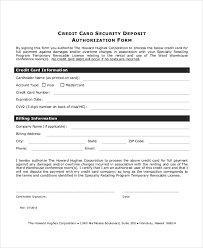 recurring credit card authorization form info sample credit card authorization form 8 examples in word pdf