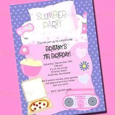 Slumber Party Invitation Template Sleepover Free Printable
