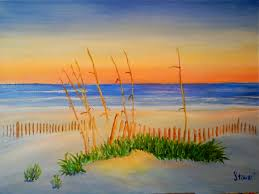 paint a long anyone interested in joining us beach scene sunset archive wetcanvas